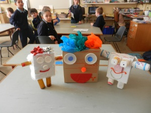 Junk Art fun creating robots