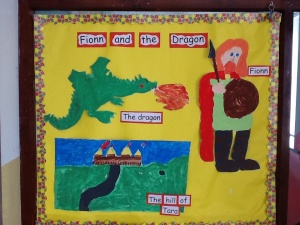 During our history, We read the story about Fionn and the giant.