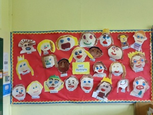 We painted self portraits!