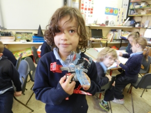 We looked at old toys and new toys. We showed some of our favourite toys