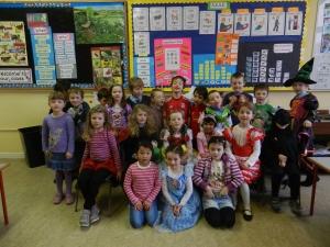Senior Infants enjoyed dressing up for World Book Day
