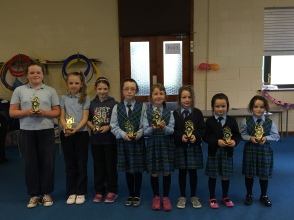 Students who achieved full attendance during the school year 14/15